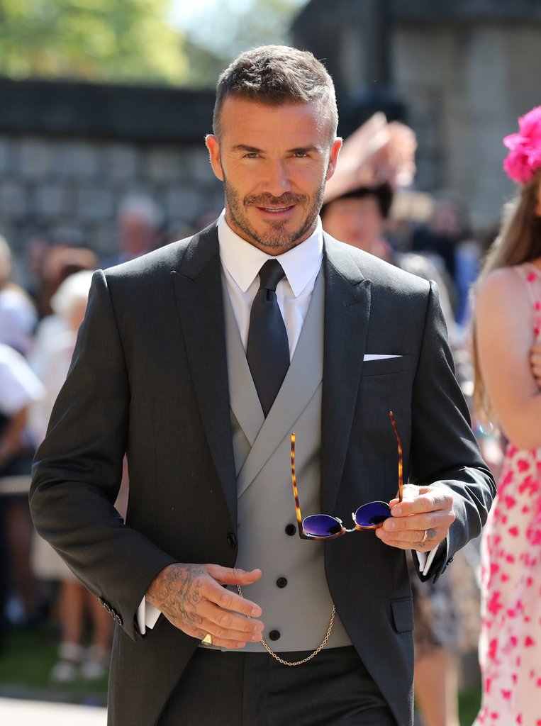 David Beckham at the Royal Wedding of Meghan Markel & Prince Harry
