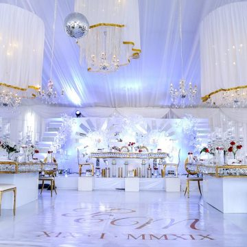 Mr. Peter & Mrs. Marita Kiggundu's wedding decor via mikolo.com
