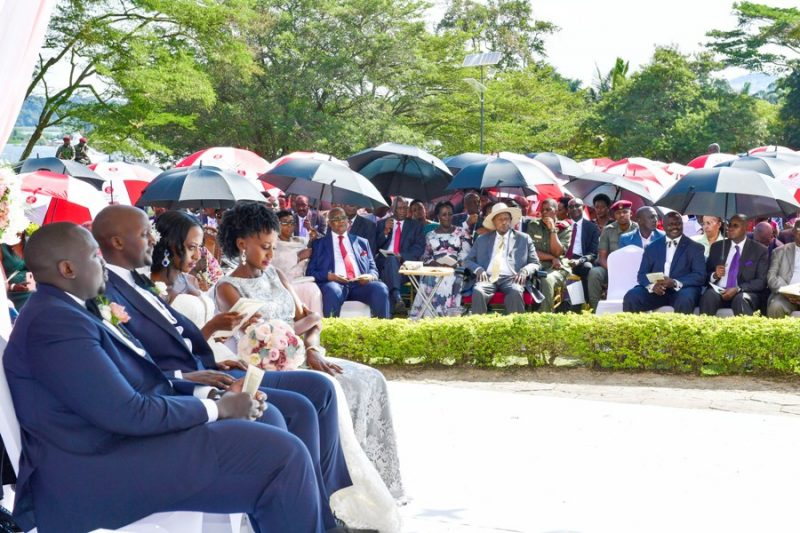 President Museveni attending the wedding ceremony of Isaac Kutesa and Yvette